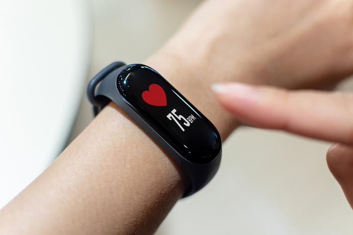 Wrist heart monitor.