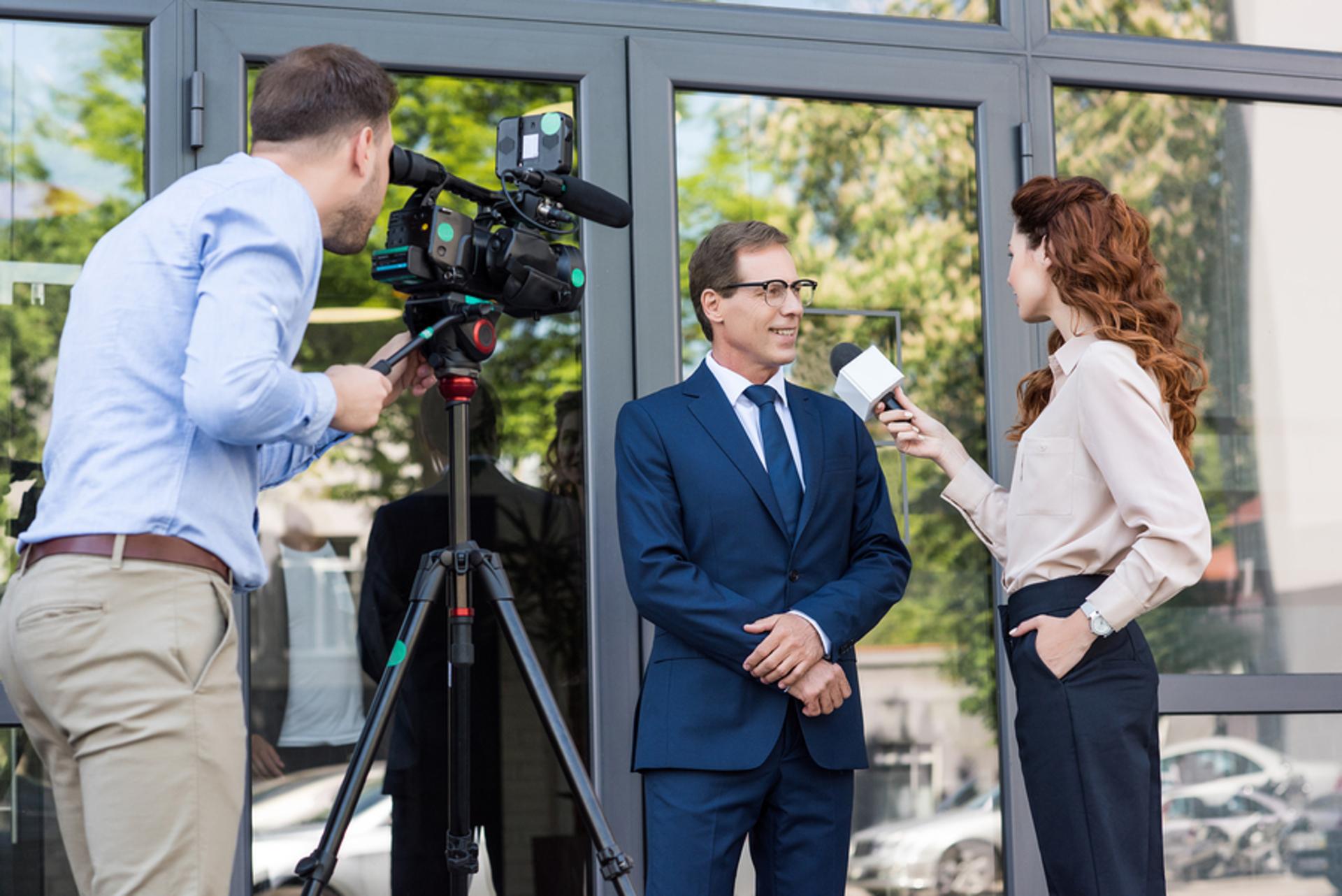 bigstock Cameraman And News Anchor Inte video marketing
