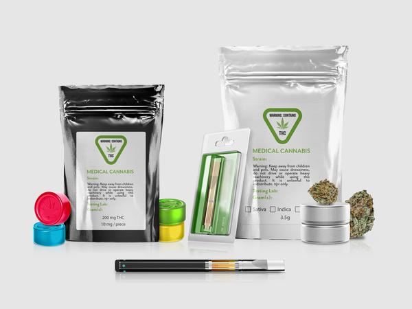 Medical cannabis packaging.