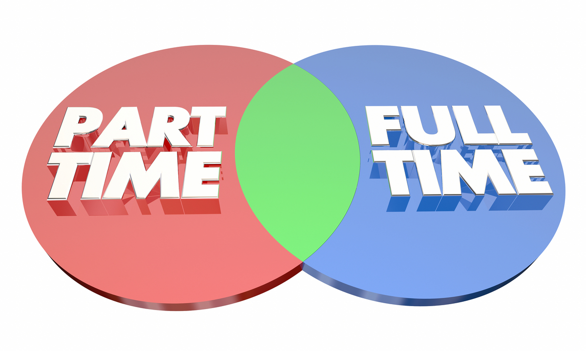 Part time and full time.