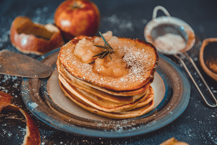 Apple-orange pancakes
