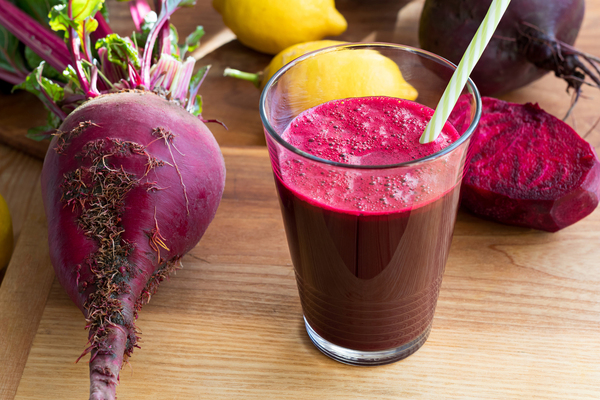 Glass of beet juice.