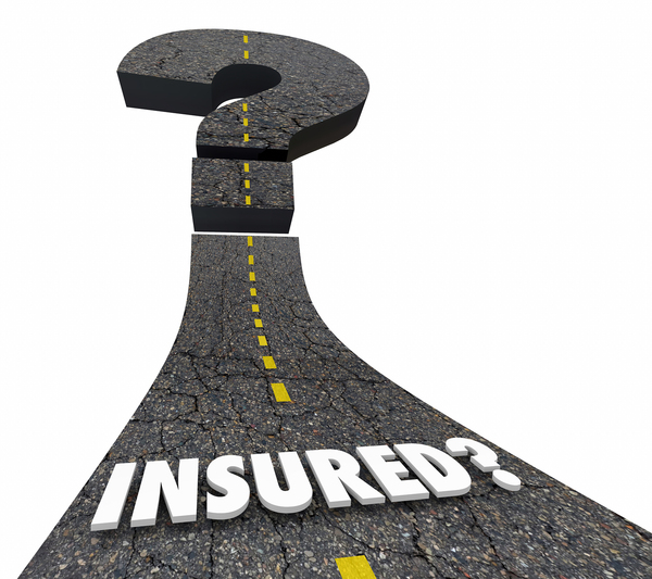 Illustration of a road with the words insured?
