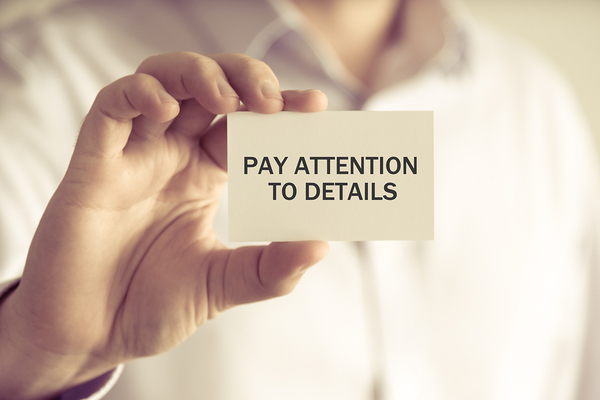 Attention to details are important in legal documents as well as answering the phnoe