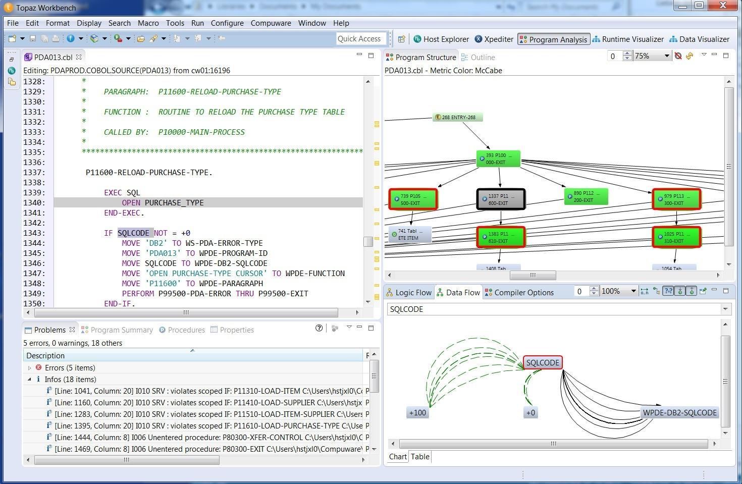 compuware topaz screenshot Multivendor Event Management for Mainframe System Health