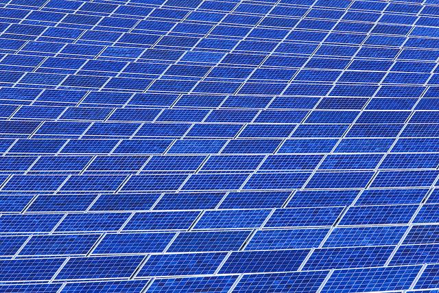 Floating solar array