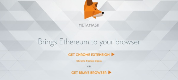 Metamask home page.