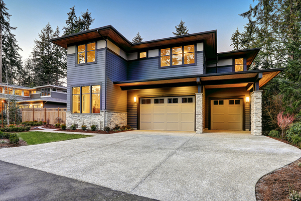 Beautiful home with two car garage.