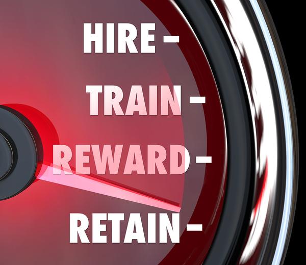 Hire, train, reward and retain.