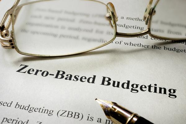 Zero based budgeting document.