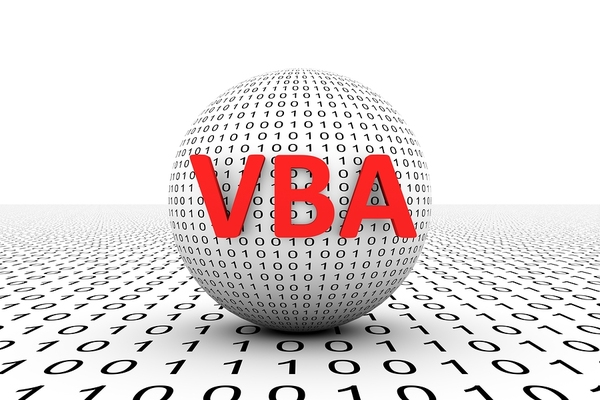 White ball labeled with the letters VBA in red.