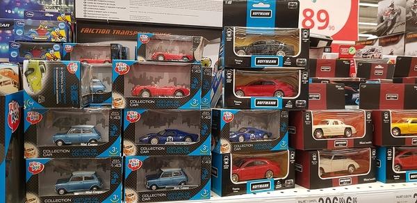 Models in packaging.
