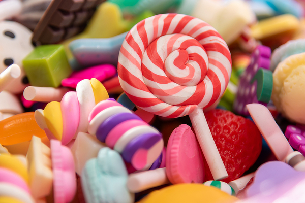 Pile of candy.