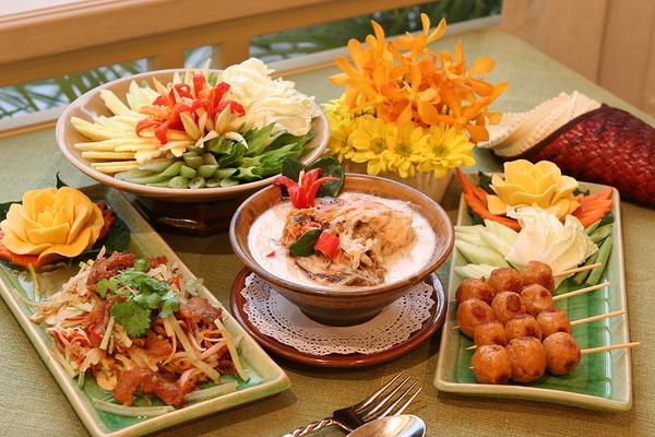 Beautifully displayed meals.