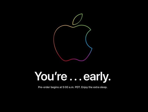 You're early note from Apple.