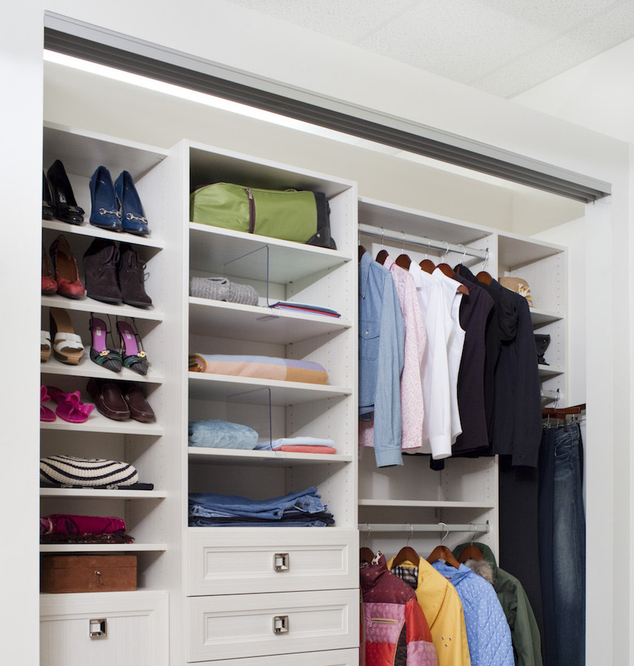 Closet organizing sample with a custom closet neat and tidy