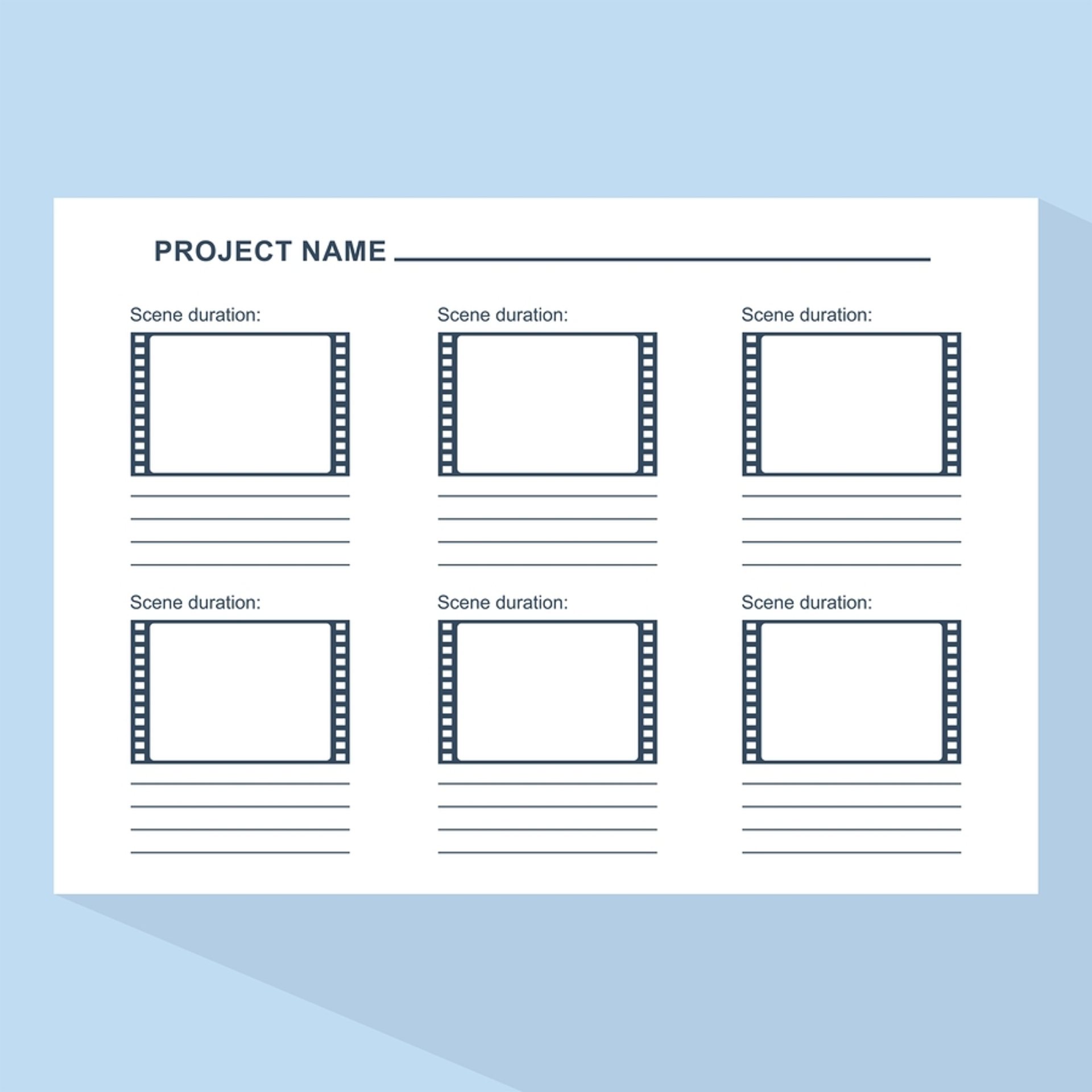 Corporate video production storyboard template