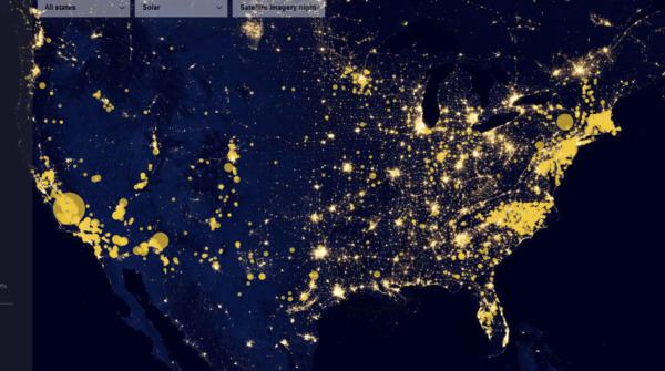 Location intelligence image 1 Map of the United States.