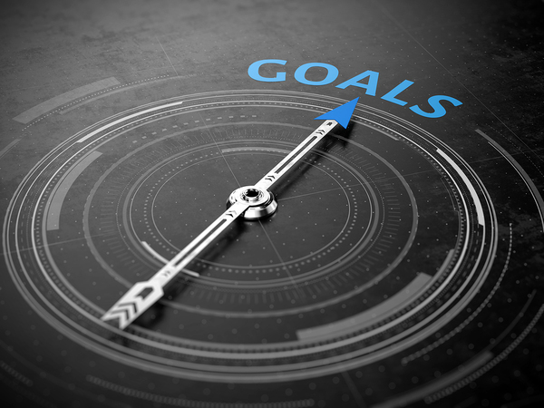 Arrow pointing to the words goals.
