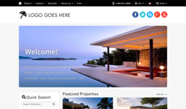 Vacation Rental Website Templates 1
