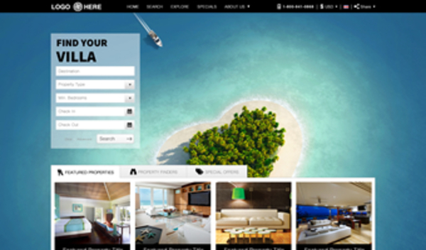 Vacation Rental Website Templates 2