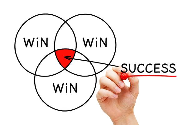 Win, win, and win success.