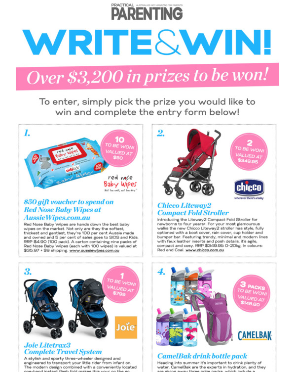 Write and Win Practical Parenting page.