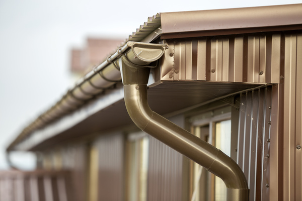 Gutter system on a house.