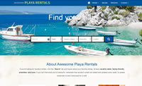 Vacation rental website example