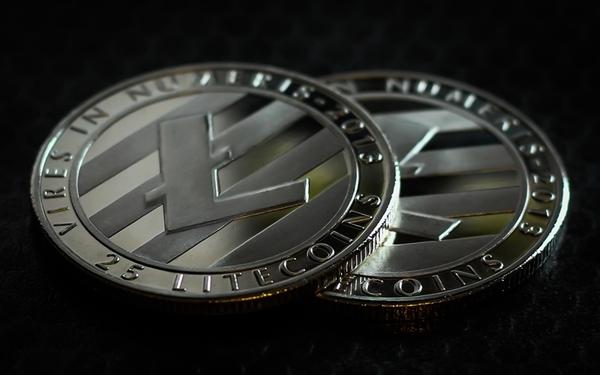 Litecoin silver coins.