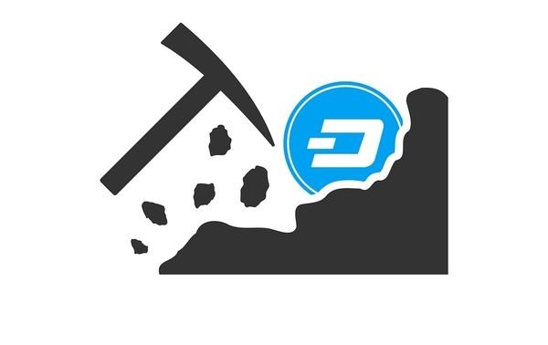 Dash logo with pickaxe.