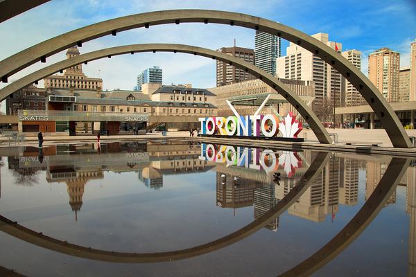 City of Toronto skyline.