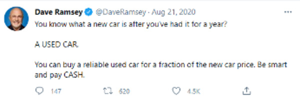 Dave Ramsey tweet.