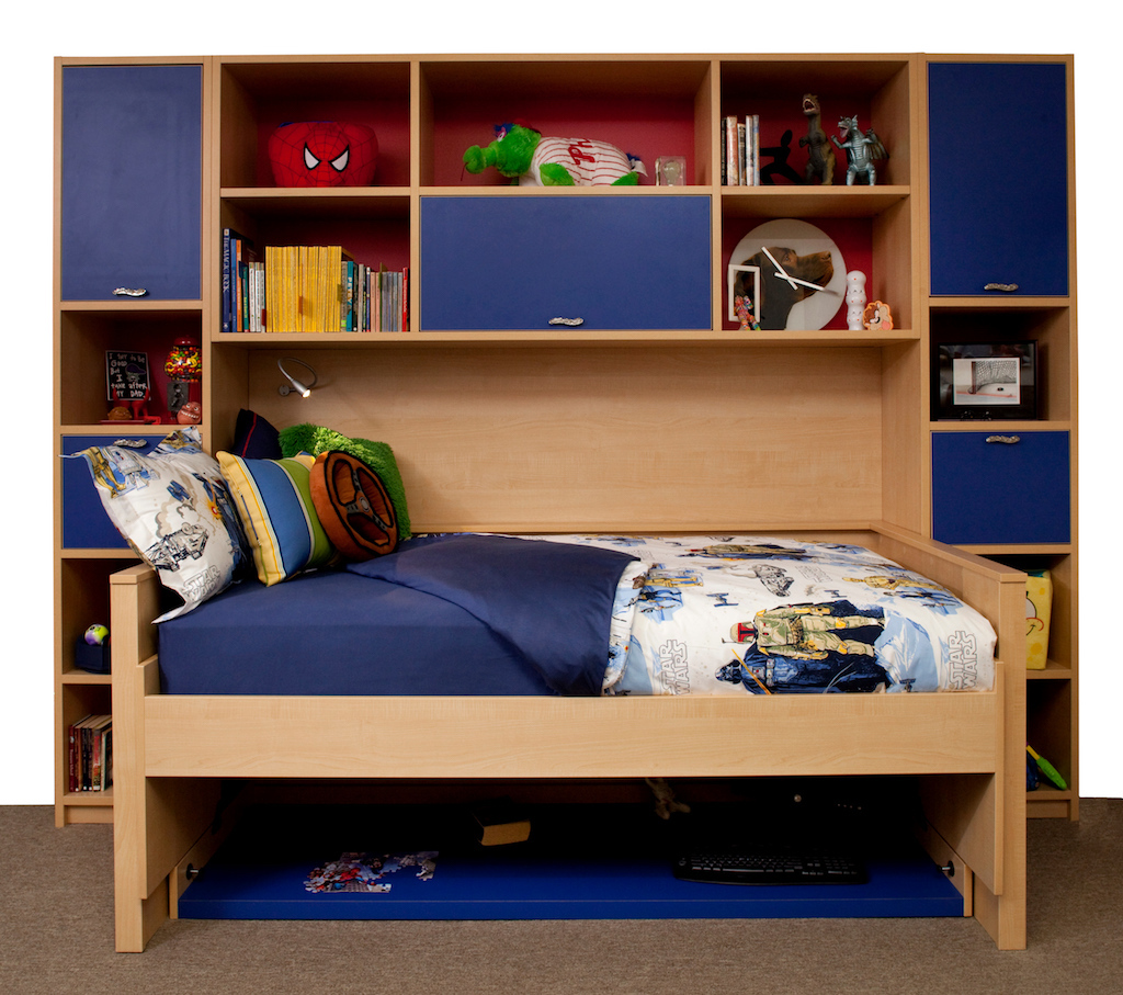 Hidden bed organizing a kids playroom