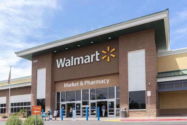 Walmart storefront.