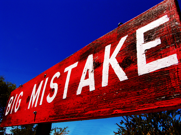 big mistake sign