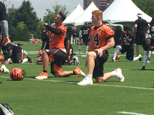 NFL hot shots, Andy Dalton and teammate Cincinnati Bengals
