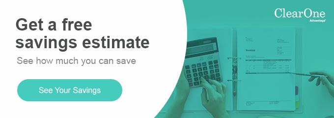 Woman calculating savings