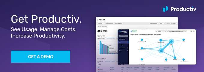 Get Productiv. See usage. Manage costs. Increase productivity.