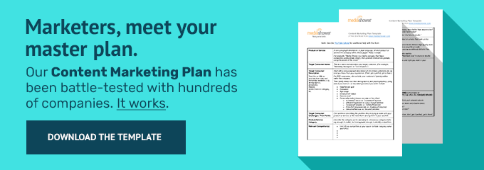 Our content marketing plan template.